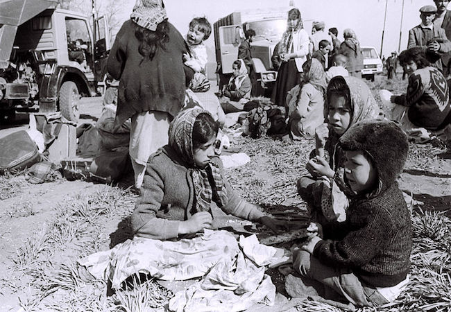 Azerbaijani children from Kelbajar district of Azerbaijan as part of 750 thousand internally displaced persons (IDPs) who fled the advancing Armenian army in April 1993. (Photo by Ilgar Jafarov: Courtesy of WikiCommons)