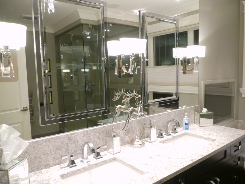 Master Suite - The mirrored recessed medicine cabinets added storage galore and are equipped with lighting and power.
