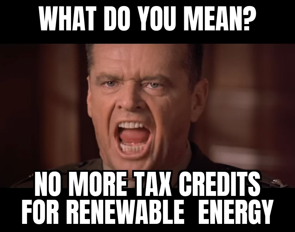 What no tax credits? - Energy News Beat