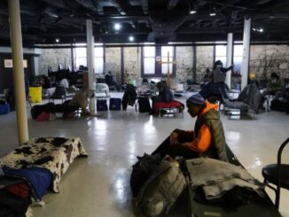 Travis Park shelter - Energy News Beat