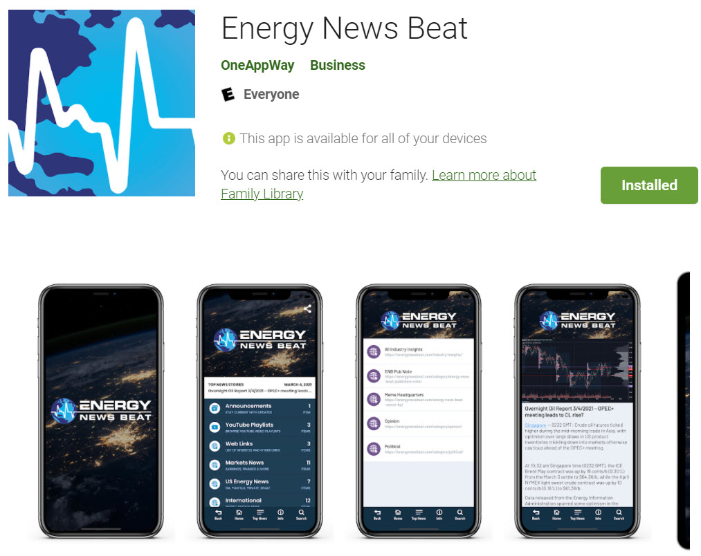 EnergyNewsBeat App - at GooglePlay