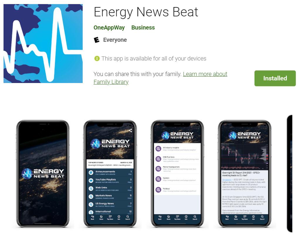 EnergyNewsBeat App - at GooglePlay
