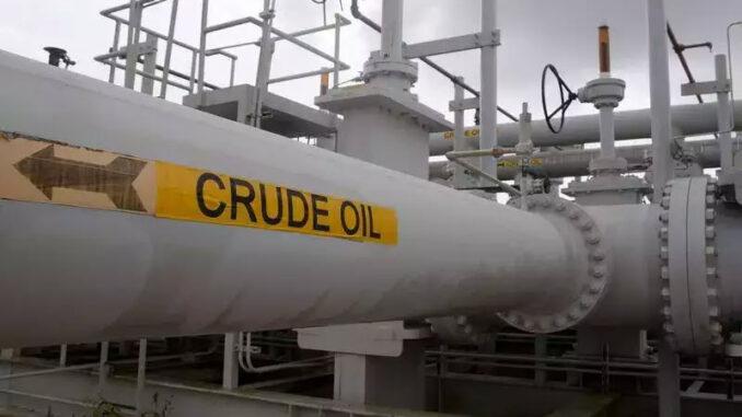 crude oil - pipe