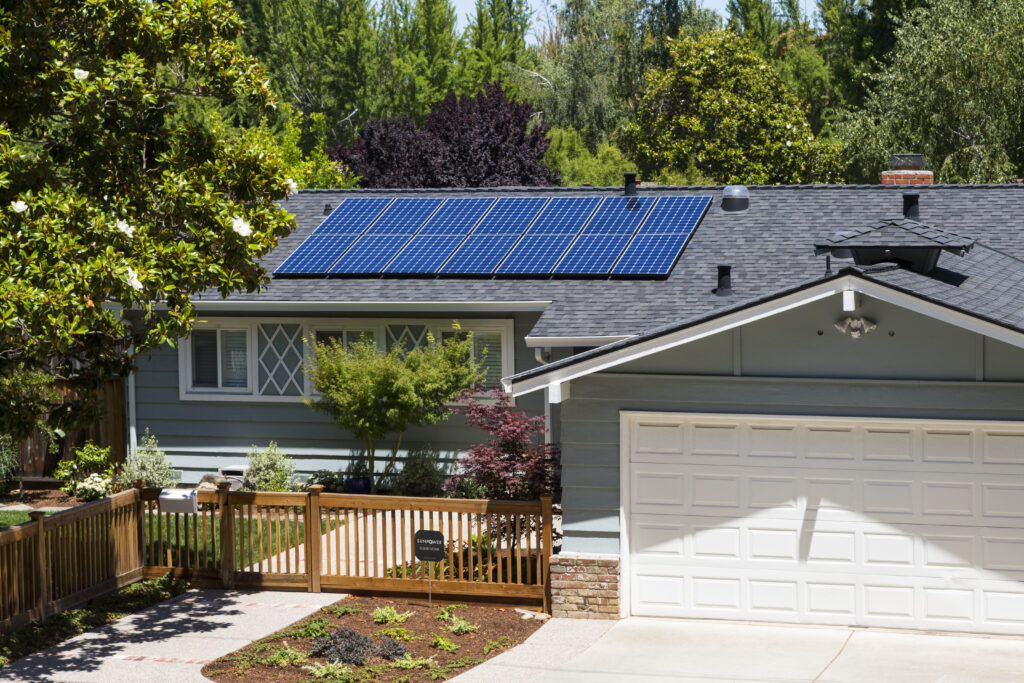 Residential solar installation in Mountain View, CA
