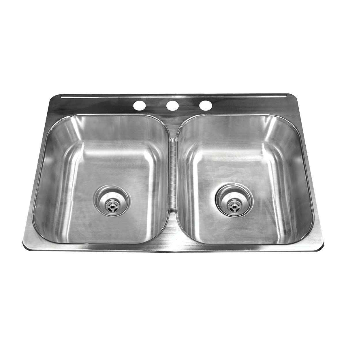 DOUBLE BOWL DROP-IN STAINLESS STEEL SINK