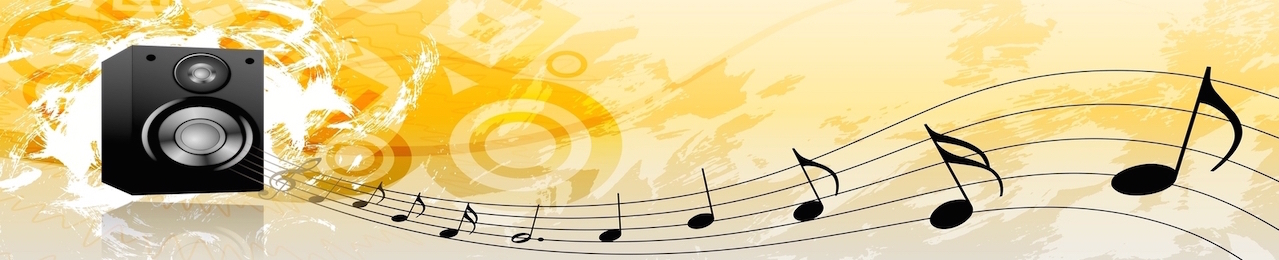 Music Notes flowing out of our speakers and onto your event