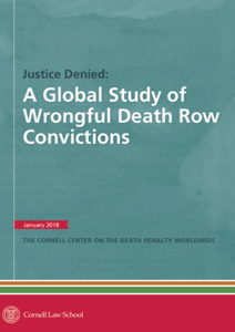 Front cover of Justice Denied - A Global Study of Wrongful Death Row Convictions.