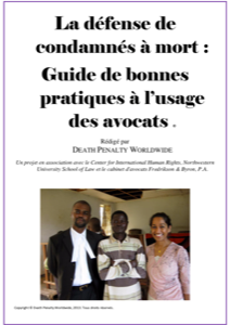 Front cover of Guide de bonnes pratiques pour les avocats défendant des condamnés à mort.