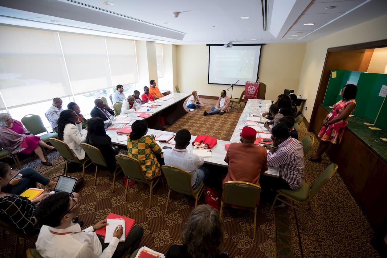 Fellows watch interview training