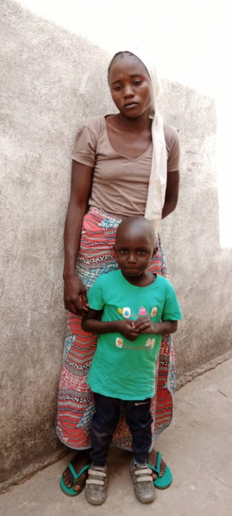 A photo of woman and a child
