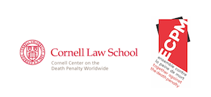 Logos for the Cornell Center on the Death Penalty Worldwide and ECPM