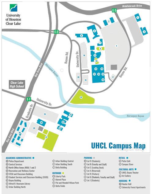 uhcl-campus-map