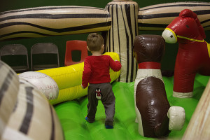 Kids of all ages played in the four bounce houses from Sawyers Just Ask Rental and Fun Jumpers!