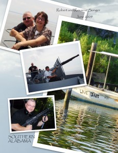 This is a collage I put together after taking my new husband to meet my parents in Alabama. The boat in the background is across from the house I grew up in where my parents still live. We went to the USS Alabama and visited my kinfolk.
