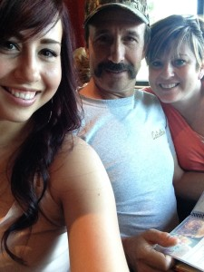 Carly with dad & mom