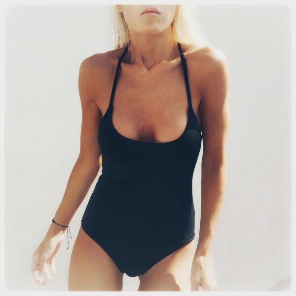 Enteriza negra Lagoa básica Vonkis bikinis