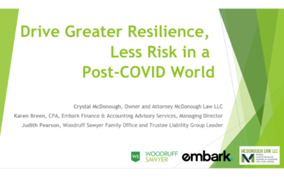 Drive Greater Resilience, Less Risk in a Post-COVID World