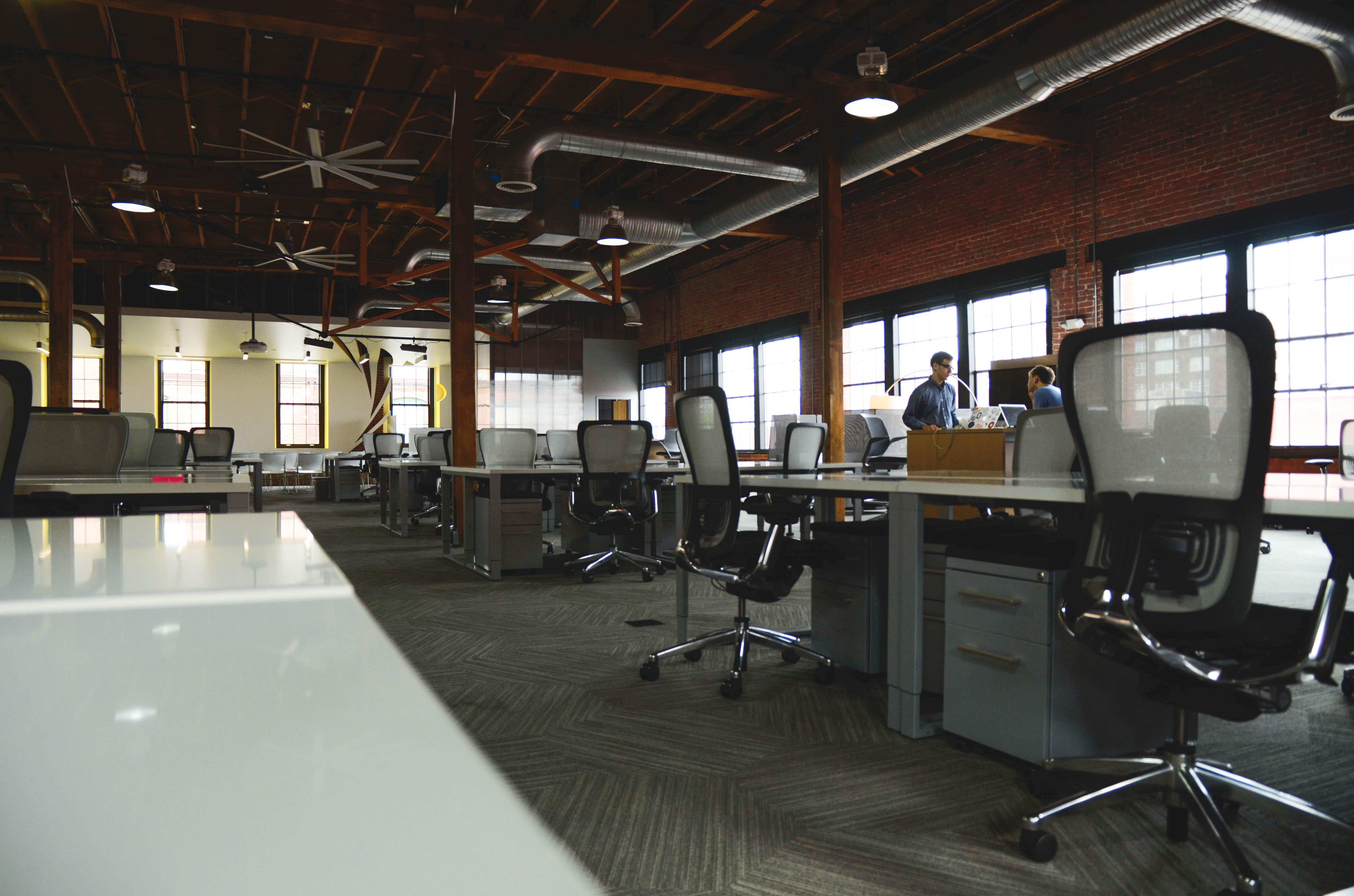 Desk open work spaces