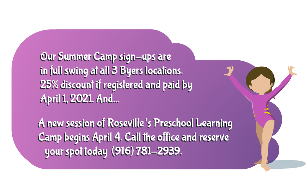 byers gymnastics classes youth summer camp