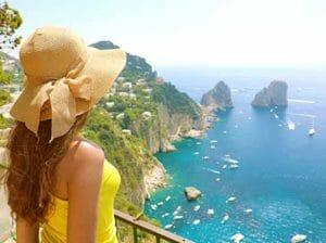 woman overlooking ocean