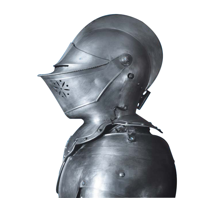 suit of armour facing left