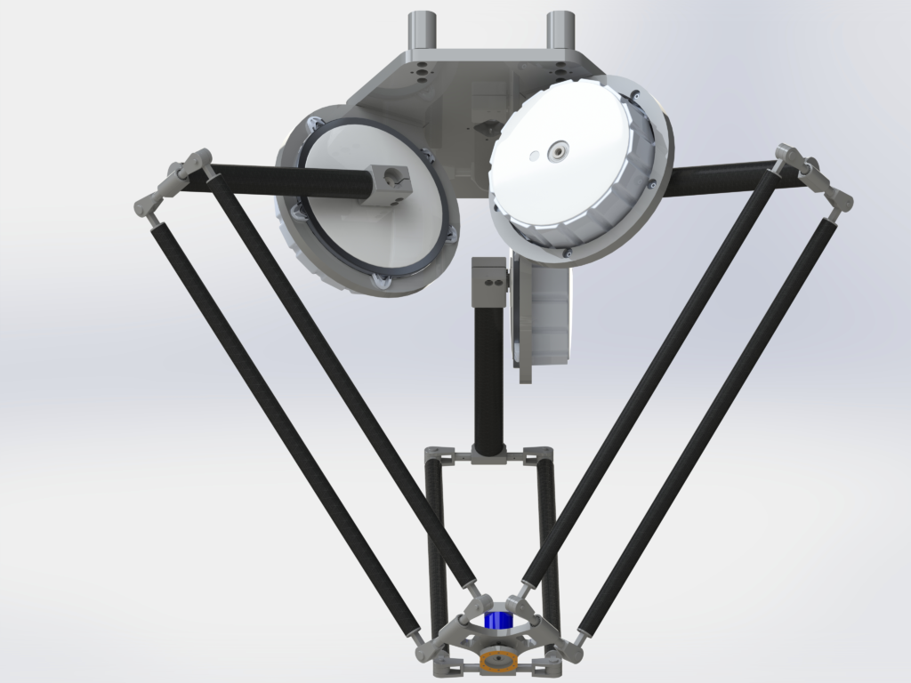 Delta robot with direct drive setup