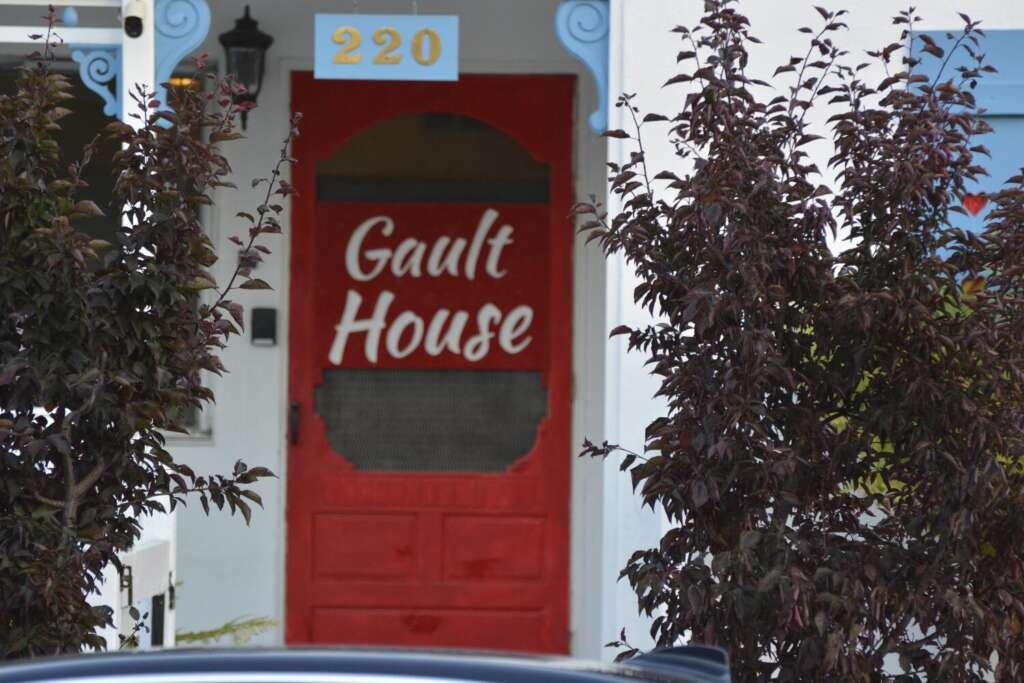 Gault House Front Door Close Up