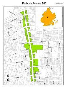 Flatbush Avenue BID map
