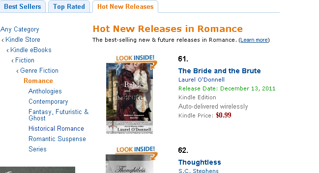 The Bride and the Brute in Amazon Hot New Releases in Romance