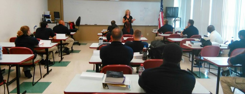 Telling the story of living with Bipolar Disorder to a group of police officers.