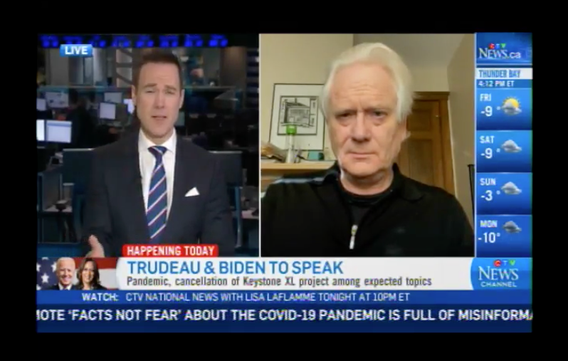 Biden Cancels Keystone XL – CTV News Interview