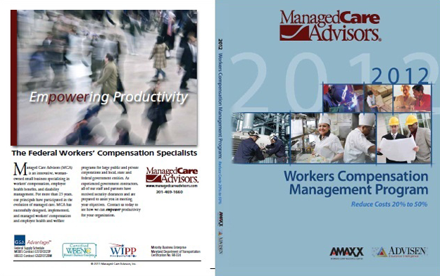 Workers Comp Book Custom Cover for Managed Care Advisors