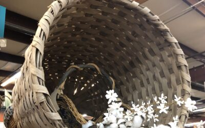 """VINTAGE COTTON BASKETS. Recently """"picked"""" from a barn in Plantersville, Alabama! No telling how long they were hidden away!"""