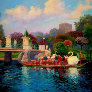 Swan boats in the sprint