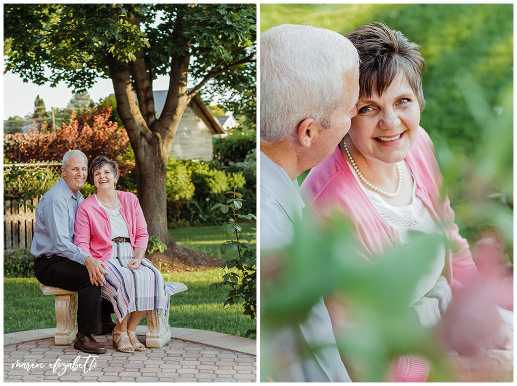 33rd anniversary picures taken of my parents around their home of 30 years. Anniversary pictures are a great way to continue telling your love story.   Arizona Anniversary Photographer   Maren Elizabeth Photography