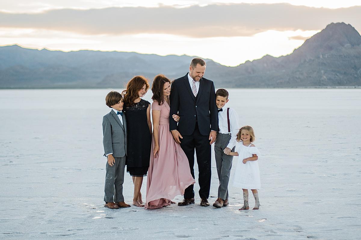 Bonneville Salt Flats Family Pictures