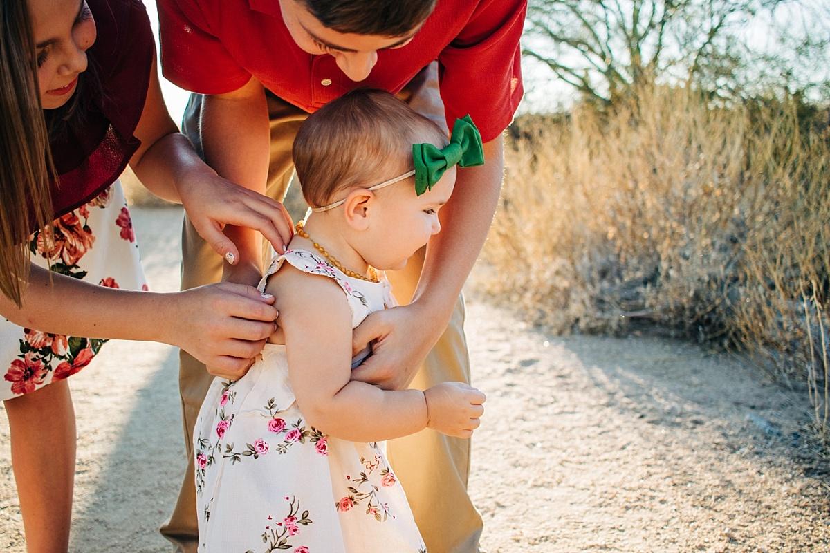 Arizona Desert Family Pictures   Usery Mountain Regional Park