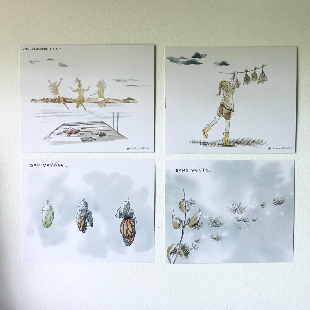 Papèterie Melika Illustration Cartes