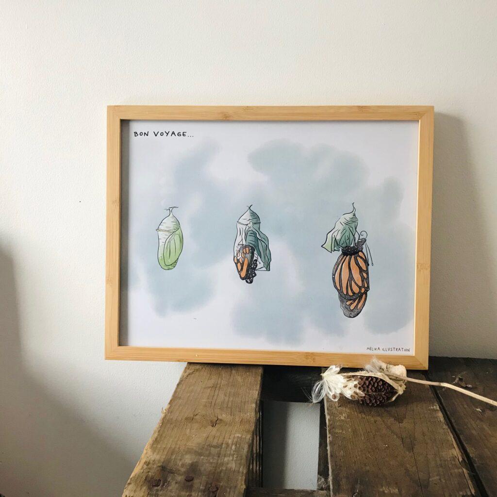 Papèterie Melika Illustration Affiche Monarque