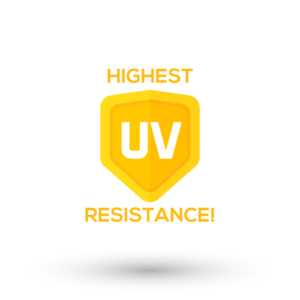 Superclear has the highest UV resistance