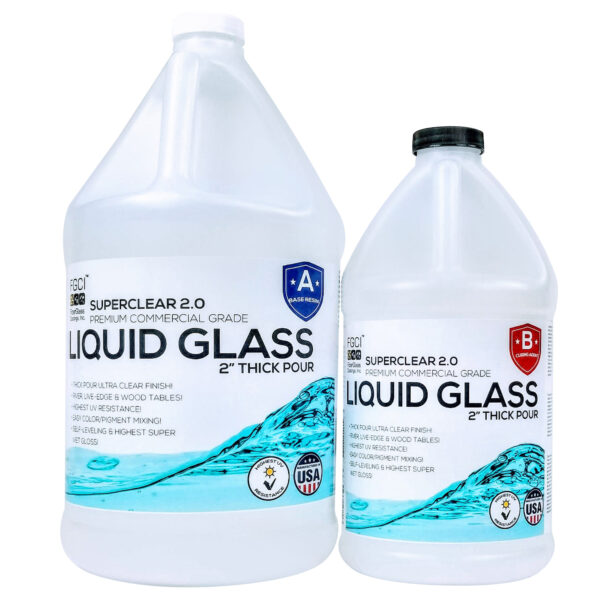 Liquid Glass Deep Pour Epoxy Resin 1.5 Gallon Kit