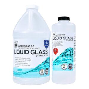 Liquid Glass Deep Pour Epoxy Resin 0.75 Gallon Kit