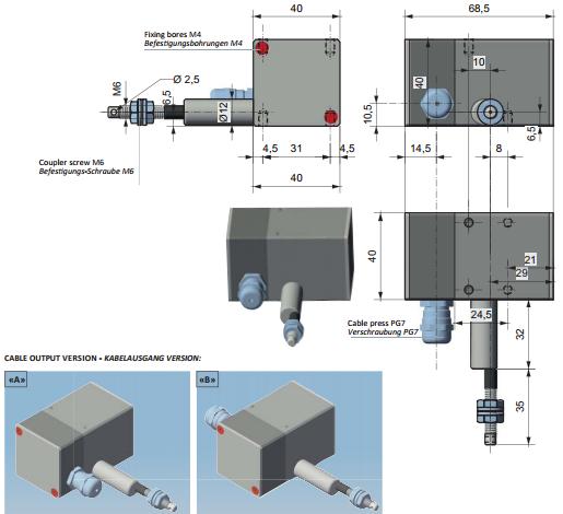 Draw Wire Encoders Products PFA2000 Dimensions FIAMA US