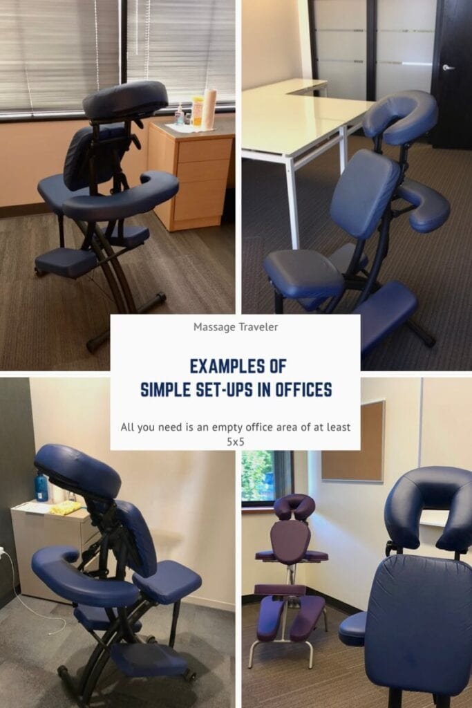 Chair massage in the office