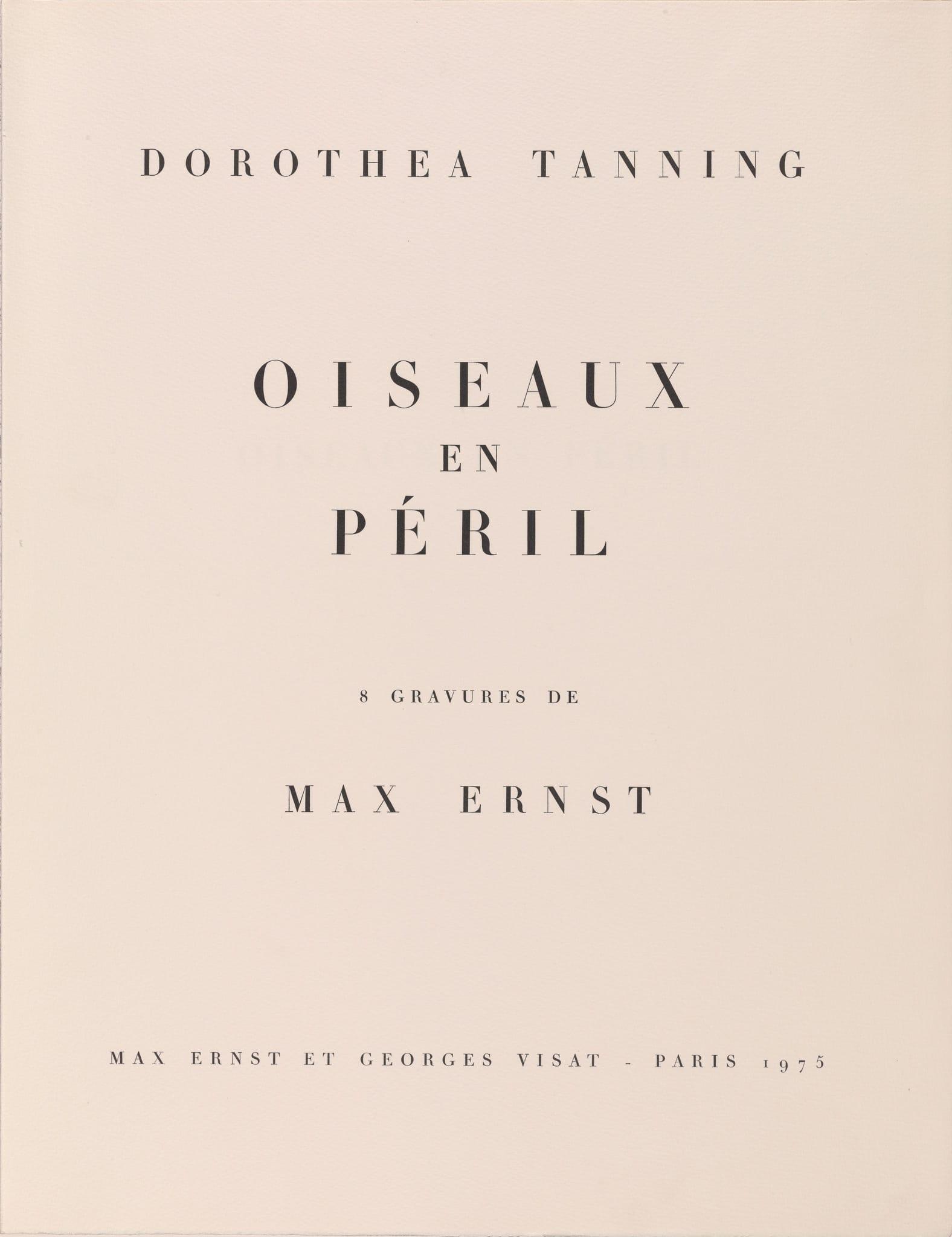 Dorothea Tanning, <br /><em>Oiseauxenpéril</em>, 1975