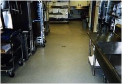 industrial kitchen floor installed by Masse's Inc.