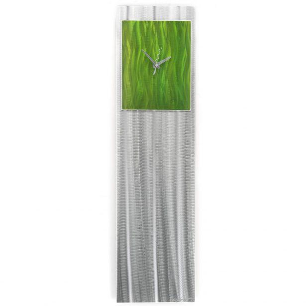 Apple Green Vibe Clock - our artisan Fine Metal Art