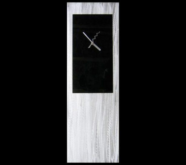 Black Metal Clock - our artisan Fine Metal Art