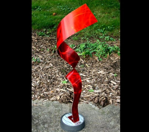 Divided Red - our artisan Fine Metal Art