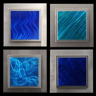 Noia (4 panel square) - our artisan Fine Metal Art